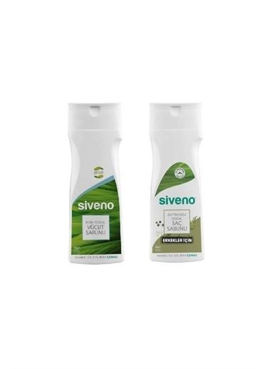 Siveno Natural Vücut Sabunu 300 ml+Zeytinyağlı Doğal Saç Sabunu Erkek 300 ml Renksiz
